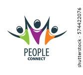 vector logo people | Shutterstock .eps vector #574422076