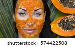beautiful caucasian woman...   Shutterstock . vector #574422508