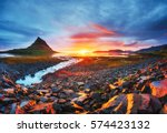 the picturesque sunset over... | Shutterstock . vector #574423132