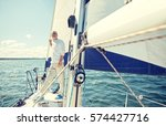 sailing  age  tourism  travel... | Shutterstock . vector #574427716