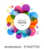 colorful abstract background ... | Shutterstock .eps vector #574427752