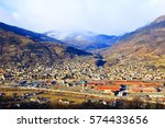 aosta city in italy  panoramic... | Shutterstock . vector #574433656