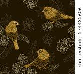 Beautiful Golden Birds With...