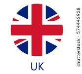 round united kingdom flag... | Shutterstock .eps vector #574443928