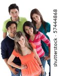 happy group of young people  ...   Shutterstock . vector #57444868