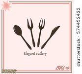 cutlery vector icon | Shutterstock .eps vector #574453432