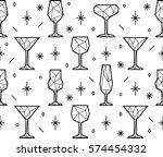 seamless pattern of polygonal... | Shutterstock .eps vector #574454332