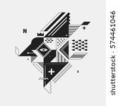 abstract monochrome creature on ... | Shutterstock .eps vector #574461046