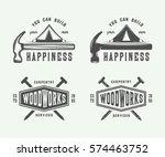 set of vintage carpentry ... | Shutterstock .eps vector #574463752
