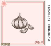 garlic icon. hand draw garlic | Shutterstock .eps vector #574464058