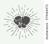 boxing gloves in vintage style. ... | Shutterstock .eps vector #574464472