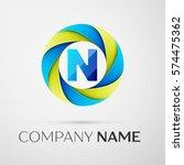 letter n logo symbol in the... | Shutterstock . vector #574475362