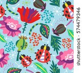 vector seamless pattern of... | Shutterstock .eps vector #574479346