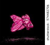 beautiful goldfish. vector... | Shutterstock .eps vector #574482706