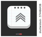 upper arrow icon | Shutterstock .eps vector #574486438