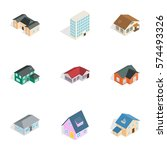 real estate icons set....