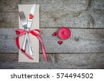 Red Candle  Hearts  Fork And...