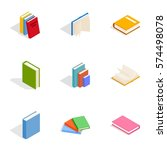 literature icons set. isometric ... | Shutterstock .eps vector #574498078