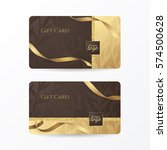 set of luxury gift cards with...   Shutterstock .eps vector #574500628