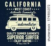 california surf bus  superior... | Shutterstock .eps vector #574501372