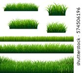 green grass borders big... | Shutterstock .eps vector #574506196