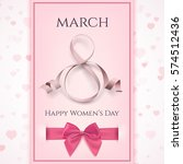 8 march greeting card template. ... | Shutterstock . vector #574512436
