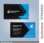 blue and black modern business... | Shutterstock .eps vector #574516315