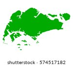 map of singapore | Shutterstock .eps vector #574517182