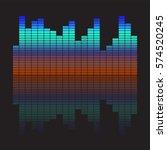 vector music equalizer. vector...   Shutterstock .eps vector #574520245