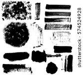 brush strokes and grunge... | Shutterstock .eps vector #574524928