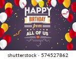 happy birthday  typography ...   Shutterstock .eps vector #574527862