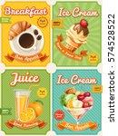 set of four vector high... | Shutterstock .eps vector #574528522