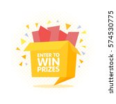 enter to win prizes gift box.... | Shutterstock .eps vector #574530775