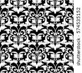 damask seamless pattern. floral ... | Shutterstock .eps vector #574535152