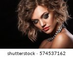 beauty woman with beautiful... | Shutterstock . vector #574537162