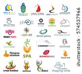 logo collection. isolated... | Shutterstock .eps vector #574537966