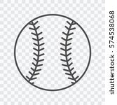 baseball line art icon for... | Shutterstock .eps vector #574538068
