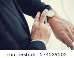businessman looking at his... | Shutterstock . vector #574539502