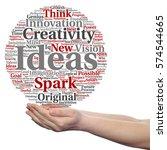 concept conceptual creative new ... | Shutterstock . vector #574544665