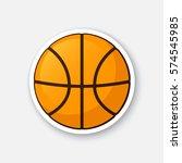 vector illustration. basketball ...   Shutterstock .eps vector #574545985