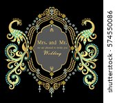 vintage invitation and wedding... | Shutterstock .eps vector #574550086