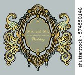 vintage invitation and wedding... | Shutterstock .eps vector #574550146