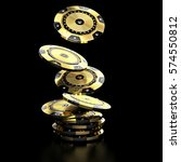 luxury casino chip gold and...   Shutterstock . vector #574550812