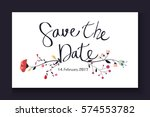 wedding invitation with... | Shutterstock .eps vector #574553782