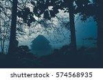 spooky background with dark... | Shutterstock . vector #574568935