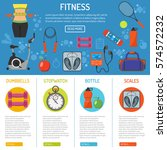fitness  gym  cardio  healthy... | Shutterstock .eps vector #574572232