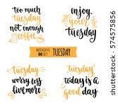 modern calligraphy style... | Shutterstock .eps vector #574575856