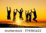 beach. | Shutterstock . vector #574581622