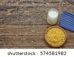 soy milk with some seeds  close ... | Shutterstock . vector #574581982