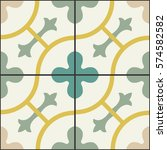 vintage decorate tile.... | Shutterstock .eps vector #574582582